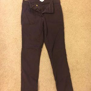 Purple skinny loft pants